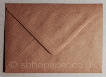 Ribbed Kraft Recycled C5 - 162 x 229mm Envelope