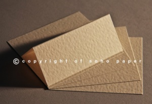 Hammer Embossed Ivory Creased Cards 250gsm