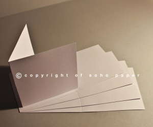 Linen Embossed Extra White Creased Cards 300gsm