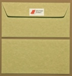 Parchment Green DL - 110 x 220mm Envelopes Peal & Seal