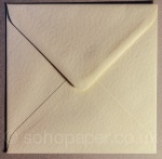 Hammer Embossed Ivory  Envelopes 155 x 155mm 100gsm
