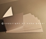 Sirio Pearl Creased Cards 300gsm - Ice White