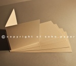 Sirio Pearl Creased Cards 300gsm - Oyster