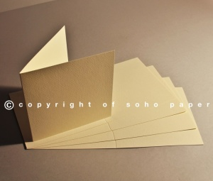 Tintoretto Feltmark Creased Cards 250gsm  Cream