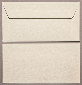 Parchment Natural DL - 110 x 220mm Envelopes - Peal & Seal Tape