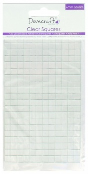 Dovecraft Small Clear Adhesive Squares 264 pads