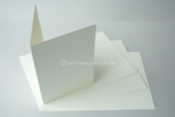 Linen Embossed Ivory Creased Cards
