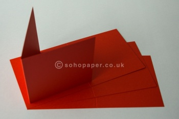 Red Creased Card Blanks 140 x 140mm 250gsm