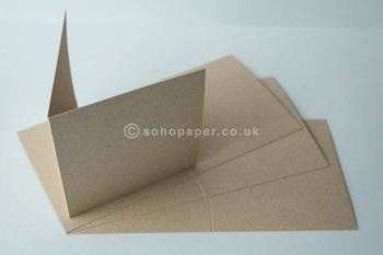 Kraft Creased Cards 280gsm Recycled