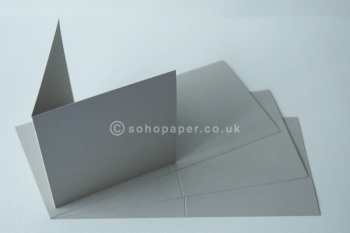 Stone Grey Tinted Creased Cards 140 x 140mm 250gsm