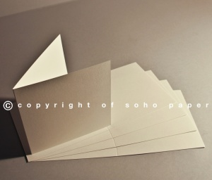Soho Fine Ribbed Felt Mark White 300gsm Creased Cards