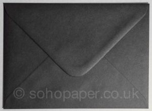 Black Envelopes 133 x 184mm 100gsm