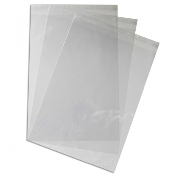 Cello Bags A3 - 310 x 435mm with 30mm Lip & self Seal Tape