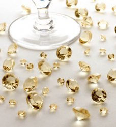 Gold Crystals for table decoration