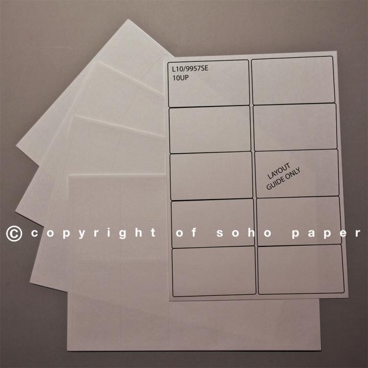 laser inkjet labels 10 labels per sheet soho paper