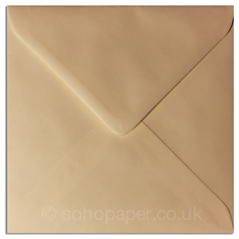 Cream 130 X 130mm Greeting Card Envelopes 100gsm Soho Paper