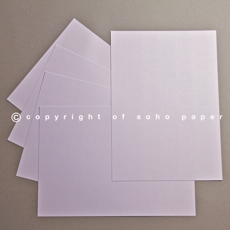 Linen Embossed White Card - 250gsm