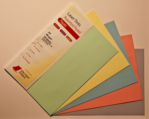 Laser Tints  Assorted Pastel Shades Paper  A4  80gsm