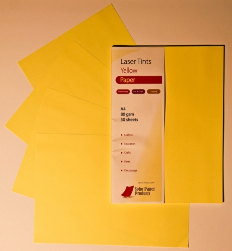 Laser Tints Yellow Paper A4 80gsm