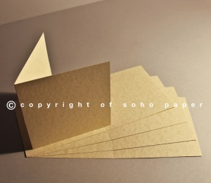 Cream Parchment Creased Cards 240gsm