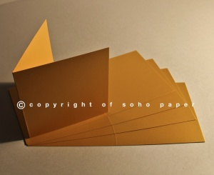Pearl Creased Cards Gold 300gsm