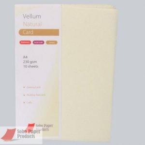 Vellum Card Cream  A4  230gsm