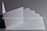 Hammer Embossed  white Creased Card blanks  280gsm