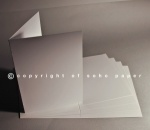White Satin Creased Cards A5 350gsm