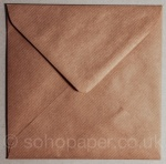 Kraft Ribbed Envelopes 130 x 130mm