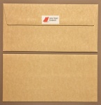 Parchment Cream DL - 110 x 220mm Envelopes - Peal & Seal