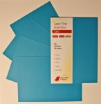 Laser Tints Bright Blue Card  A4 160gsm