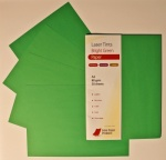 Laser Tints Bright Green Paper  A4  80gsm