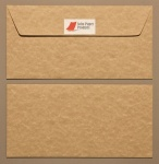 Parchment Bronze DL - 110 x 220mm Envelopes - Peal & Seal