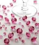Pink Crystals for table decoration