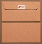Parchment Pink DL - 110 x 220mm Envelopes - Peal & Seal