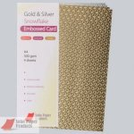 Metal Gold & Silver Snow Flake Embossed A4 300gsm Card