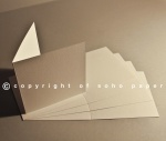 Tintoretto Feltmark White 250gsm Creased Cards