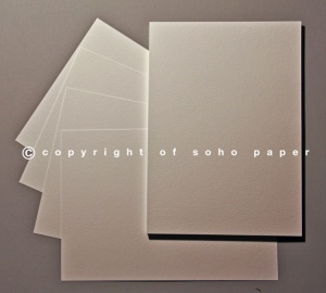 Wedding Card Inserts - Tintoretto Feltmark White 95gsm Paper