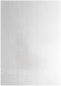 Linen Embossed White Card  300gsm